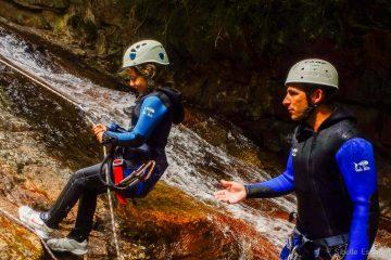 Canyon Argansou Ariège rappel enfants