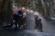 Canyon Artigue Ariège groupe cascade du Pinet