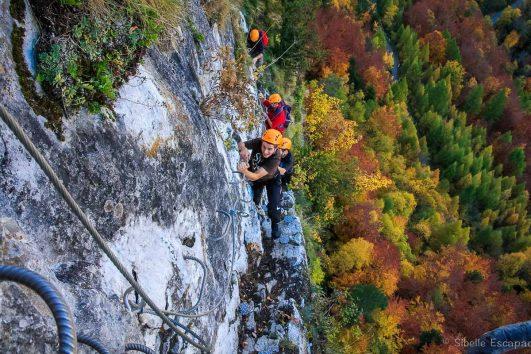 Traversée Via ferrata Face Nord en automne